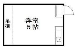 京都府京都市下京区中之町の賃貸アパートの間取り