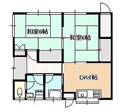 [一戸建] 岡山県岡山市中区中井3丁目 の賃貸【/】の間取り