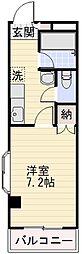 長野県長野市大字鶴賀七瀬南部の賃貸マンションの間取り