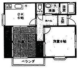 山本マンション[102号室]の間取り