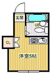 クレセル箕面[2階]の間取り
