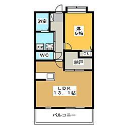 パルコート[5階]の間取り