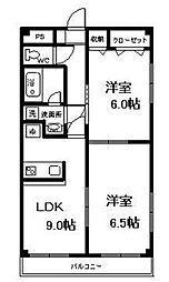 神奈川県相模原市中央区富士見2丁目の賃貸マンションの間取り