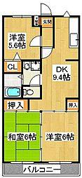 ゴールデンタウン岡崎[102号室]の間取り