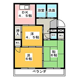 ダイマルハイツ徳倉[2階]の間取り