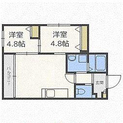 グランコンフォート札幌[1階]の間取り