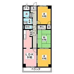 マリポーサ上田[1階]の間取り