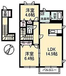 タウン表参道C棟[210号室]の間取り