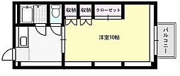 ソレイユ野田[201号室]の間取り