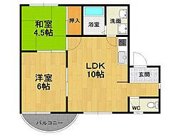 ハイツK&G[3階]の間取り