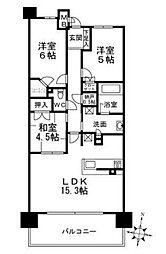 プラウドシティ新大阪[602号室]の間取り