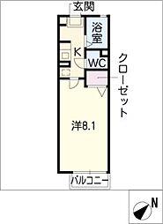 アバンティ江端 B棟[1階]の間取り