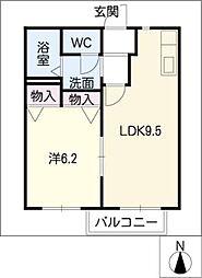 コンフォルト桃山 S棟[1階]の間取り
