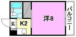 こうだ第3ハイツ[402 号室号室]の間取り