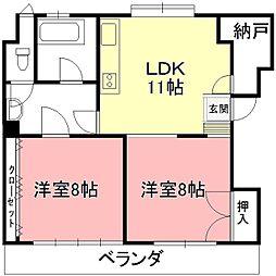 日ノ本町共同ビル[2F号室]の間取り