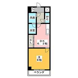 アクア アルファ[6階]の間取り
