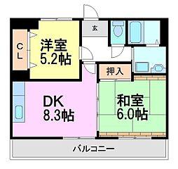 サン・フォレ・ソノダ[8階]の間取り