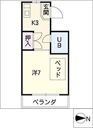 ビジネスマンション太平洋[3階]の間取り