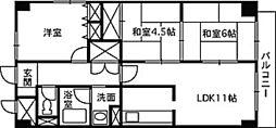 リバーサイド大須賀[6階]の間取り