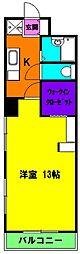 静岡県浜松市中区葵東1丁目の賃貸マンションの間取り