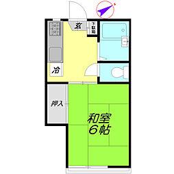 美乃里コーポ[2階]の間取り