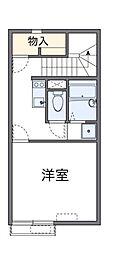 小田急小田原線 鶴川駅 バス9分 大蔵下車 徒歩8分の賃貸アパート 2階1Kの間取り