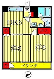 長谷川マンション[4階]の間取り