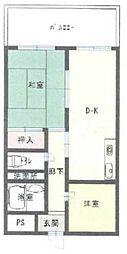 グランドハイツ安田II[201号室]の間取り