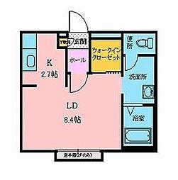シャーメゾンカスケード[2階]の間取り