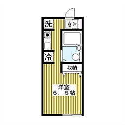 東京都板橋区四葉2丁目の賃貸アパートの間取り