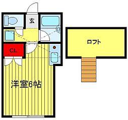 コーポ逆井[107号室]の間取り