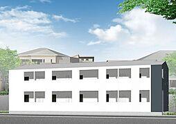 埼玉県東松山市大字高坂の賃貸アパートの外観