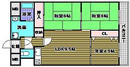 千代田司マンション[2階]の間取り