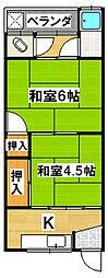 錦荘[2階]の間取り