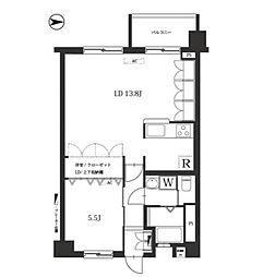 業平橋住宅[4階]の間取り