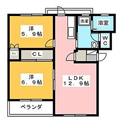 コンフォードII[1階]の間取り