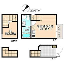 福岡県福岡市博多区大井2丁目の賃貸アパートの間取り