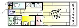 フローラコート[2階]の間取り