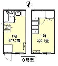 [テラスハウス] 東京都新宿区若葉1丁目 の賃貸【/】の間取り