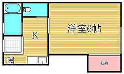 ウエダハウス[2階]の間取り