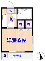 コーポすみれ[1階]の間取り