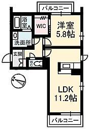 広島県広島市東区戸坂山根2丁目の賃貸アパートの間取り