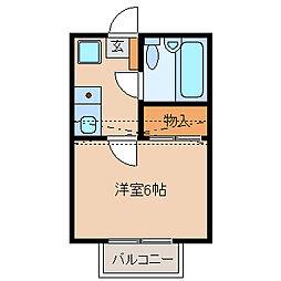 ノーリーズン松戸[2階]の間取り
