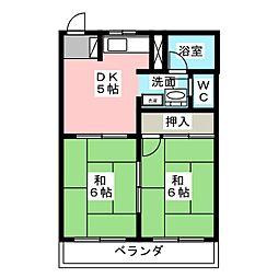 木野ハイツ1[2階]の間取り