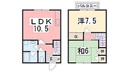[テラスハウス] 兵庫県加古川市別府町新野辺 の賃貸【/】の間取り