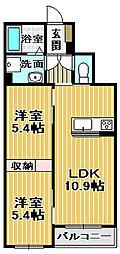 シャーメゾンK−4[2階]の間取り