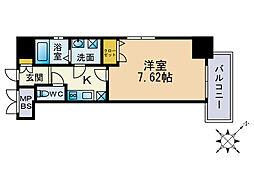 レスプリメゾンデリス[7階]の間取り