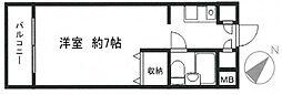 神奈川県横浜市鶴見区岸谷4丁目の賃貸マンションの間取り