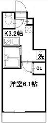 東京都大田区大森北5丁目の賃貸アパートの間取り