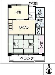 メイゾンサンポア A棟[4階]の間取り
